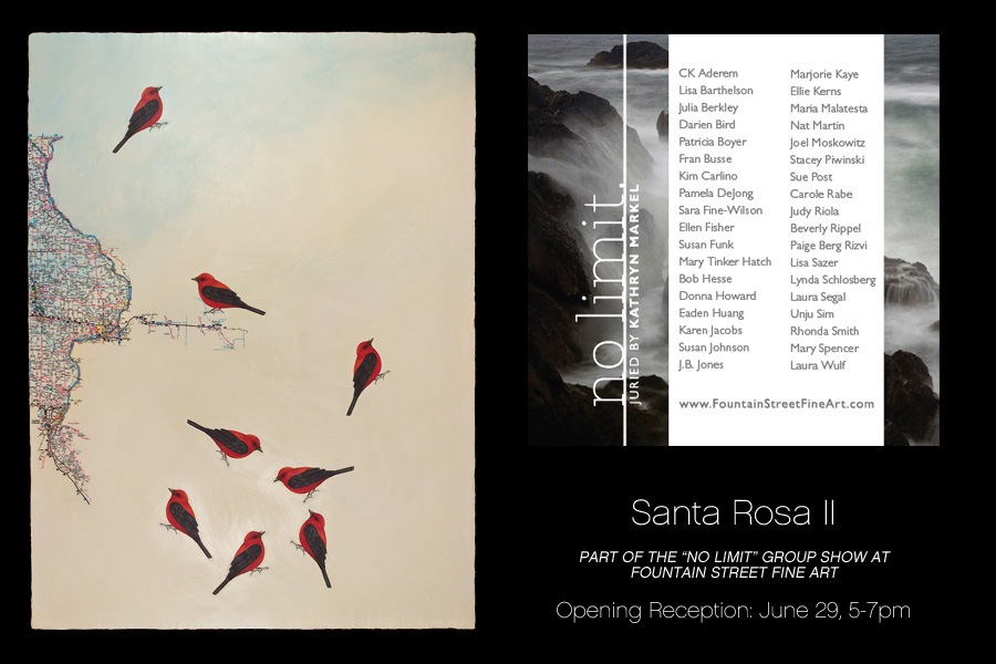 no limit group show at Fountain Street Fine Art featuring Santa Rosa II